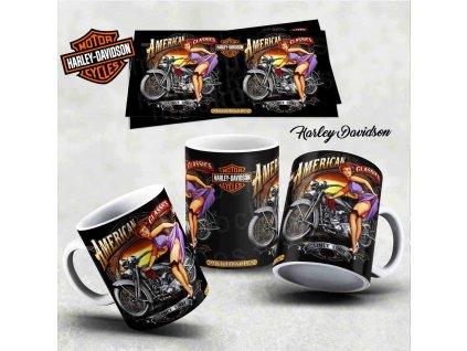 Hrneček s motivem-  Harley Davidson 6