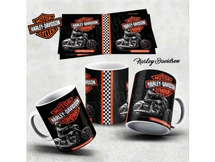 Hrneček s motivem-  Harley Davidson 7