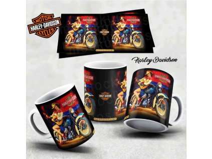 Hrneček s motivem-  Harley Davidson 11