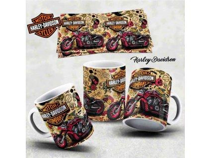 Hrneček s motivem-  Harley Davidson 14