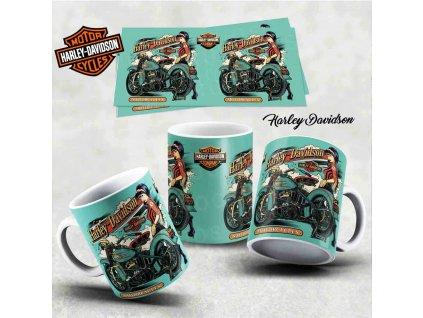 Hrneček s motivem-  Harley Davidson 22