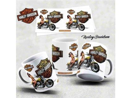 Hrneček s motivem-  Harley Davidson 24