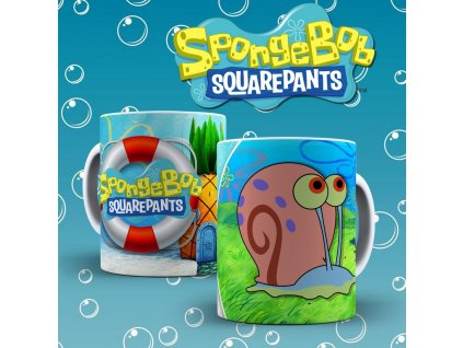 Hrneček s motivem ze seriálu  SpongeBob 2