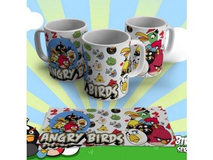 Hrneček s motivem ze seriálu  Angry Birds 9