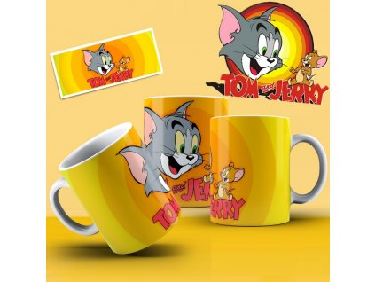 Hrneček s motivem ze seriálu  Tom a Jerry 1