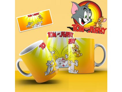 Hrneček s motivem ze seriálu  Tom a Jerry 4