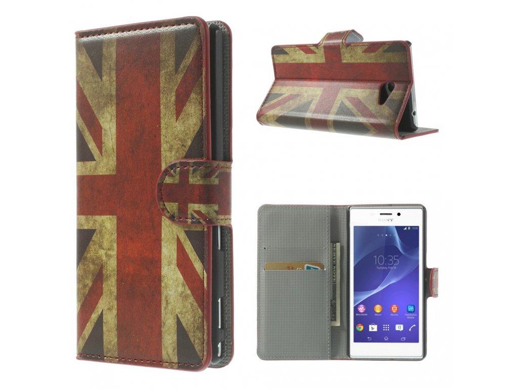 Pouzdro s britskou vlajkou pro Sony Xperia M2