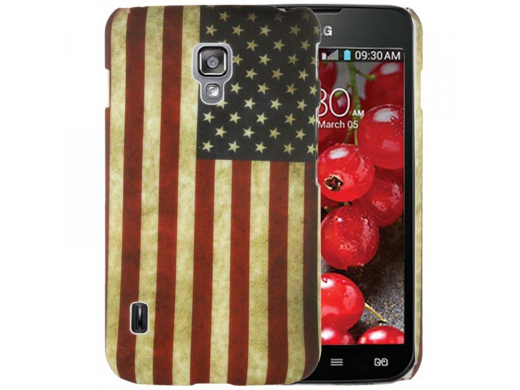 Pouzdro s americkou vlajkou pro LG Optimus L7 II P715