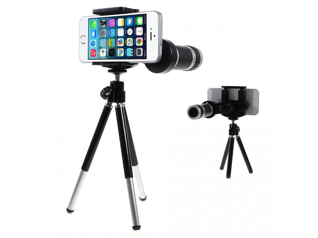 Stativ s 8x zoom objektivem pro mobilní telefon