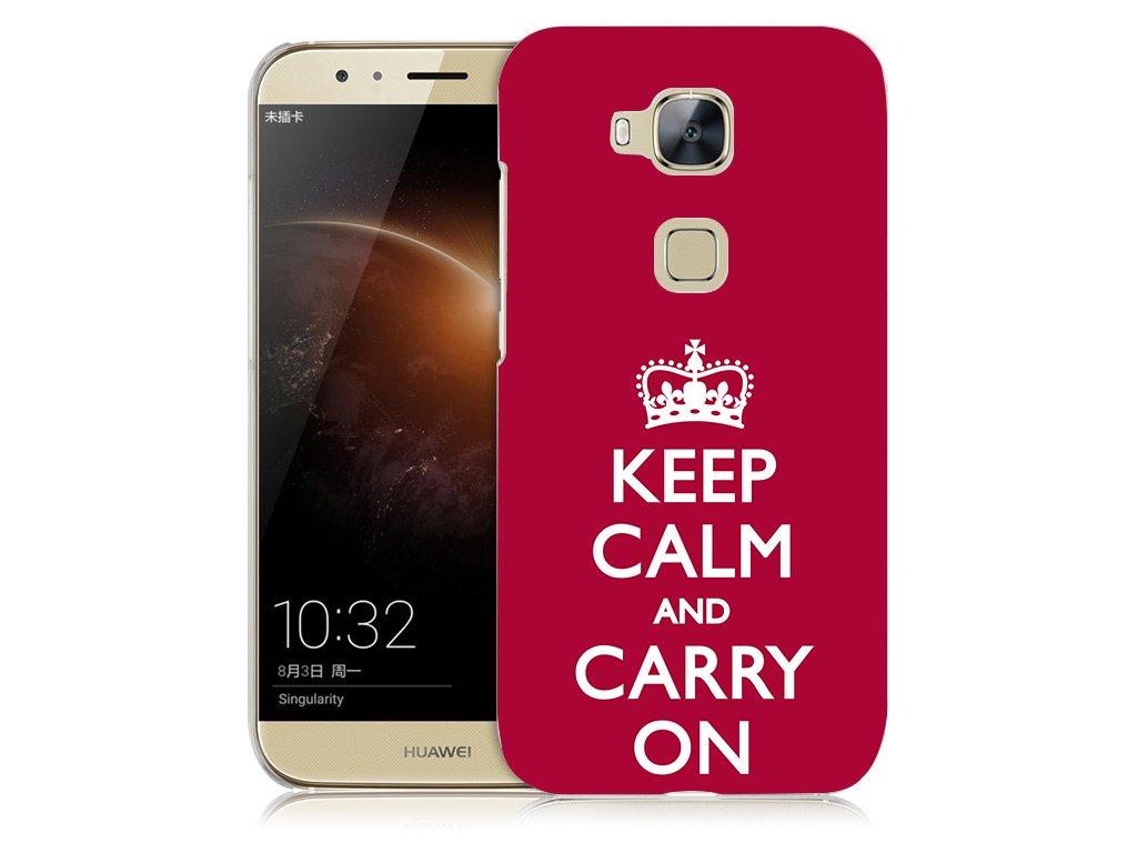 "Plastové pouzdro TVC ""Keep calm and carry on"" pro Huawei Honor 5X"