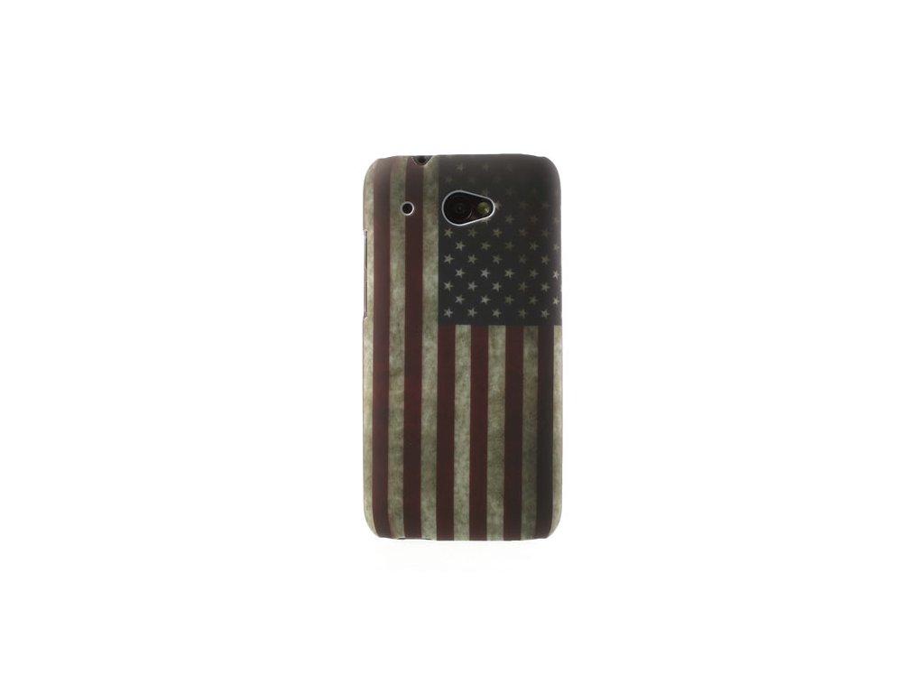 Pouzdro s americkou vlajkou pro HTC Desire 601