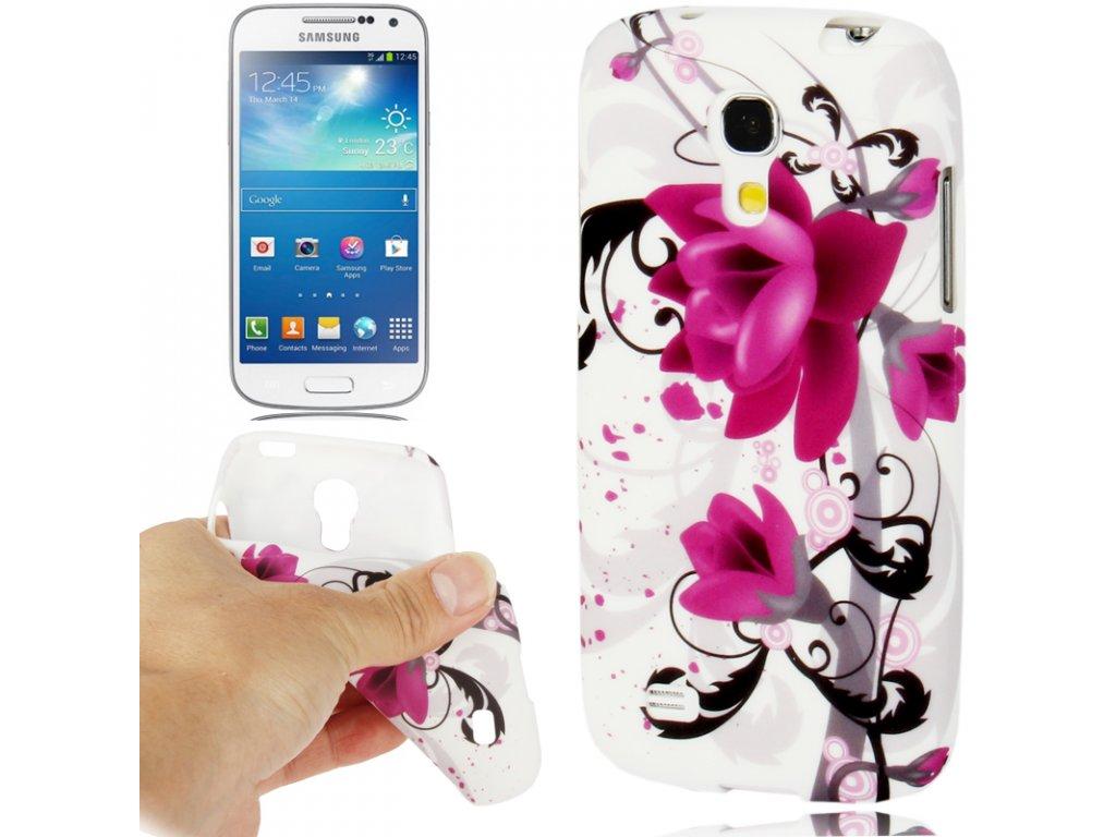 Pouzdro s květinou pro Samsung Galaxy S4 Mini
