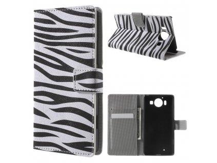 Koženkové pouzdro TVC Zebra pro Microsoft Lumia 950