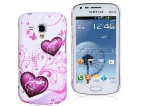 Plastové pouzdro s motivem srdce pro Samsung Galaxy S3