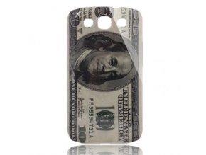 Plastové pouzdro s motivem bankovky pro Samsung Galaxy S3