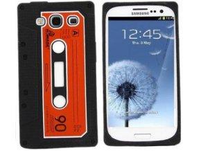 Silikonové pouzdro s motivem kazety pro Samsung Galaxy S3