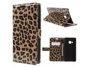 Flipové pouzdro s leopardím vzorem pro HTC One M9