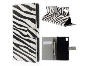 Koženkové pouzdro TVC Zebra pro Sony Xperia M4 Aqua