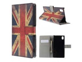 Koženkové pouzdro TVC s britskou vlajkou pro Sony Xperia M4 Aqua