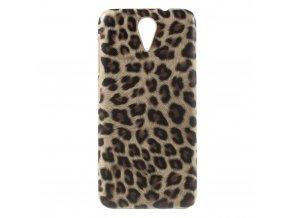 Pouzdro s leopardím vzorem pro HTC Desire 620