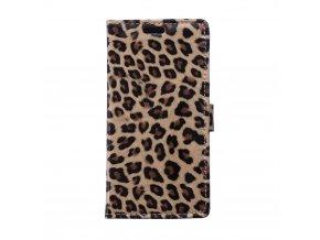 Flipové pouzdro s leopardím vzorem pro Blackberry Leap