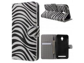Koženkové pouzdro TVC Zebra pro Asus Zenfone Go (ZC500TG)