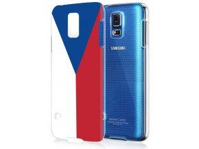 """Plastové pouzdro TVC """"vlajka ČR"""" pro Samsung Galaxy S5"""