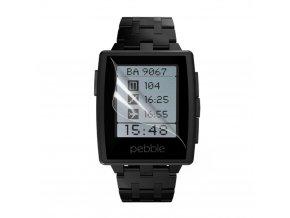 Čirá ochranná fólie pro Pebble Steel Smart Watch