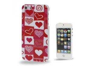 Pouzdro se srdíčky pro Apple iPhone 5/5S