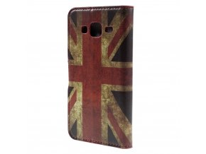 Koženkové pouzdro TVC s britskou vlajkou pro Samsung Galaxy J3