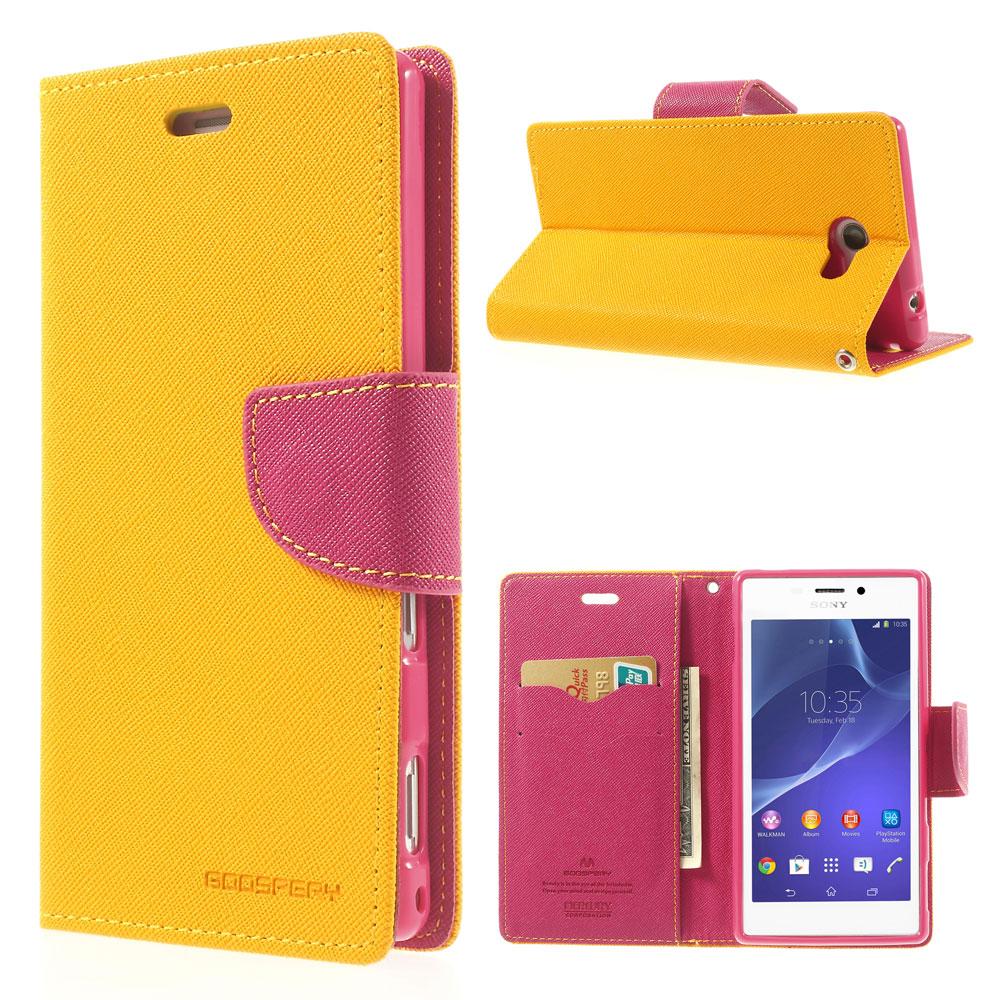Pouzdro se stojánkem pro Sony Xperia M2 Barva: Žlutá