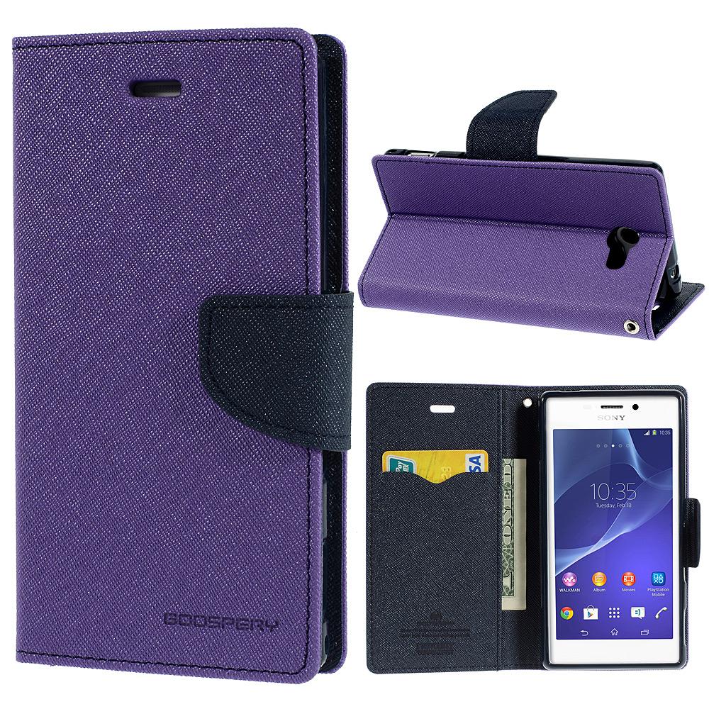 Pouzdro se stojánkem pro Sony Xperia M2 Barva: Fialová