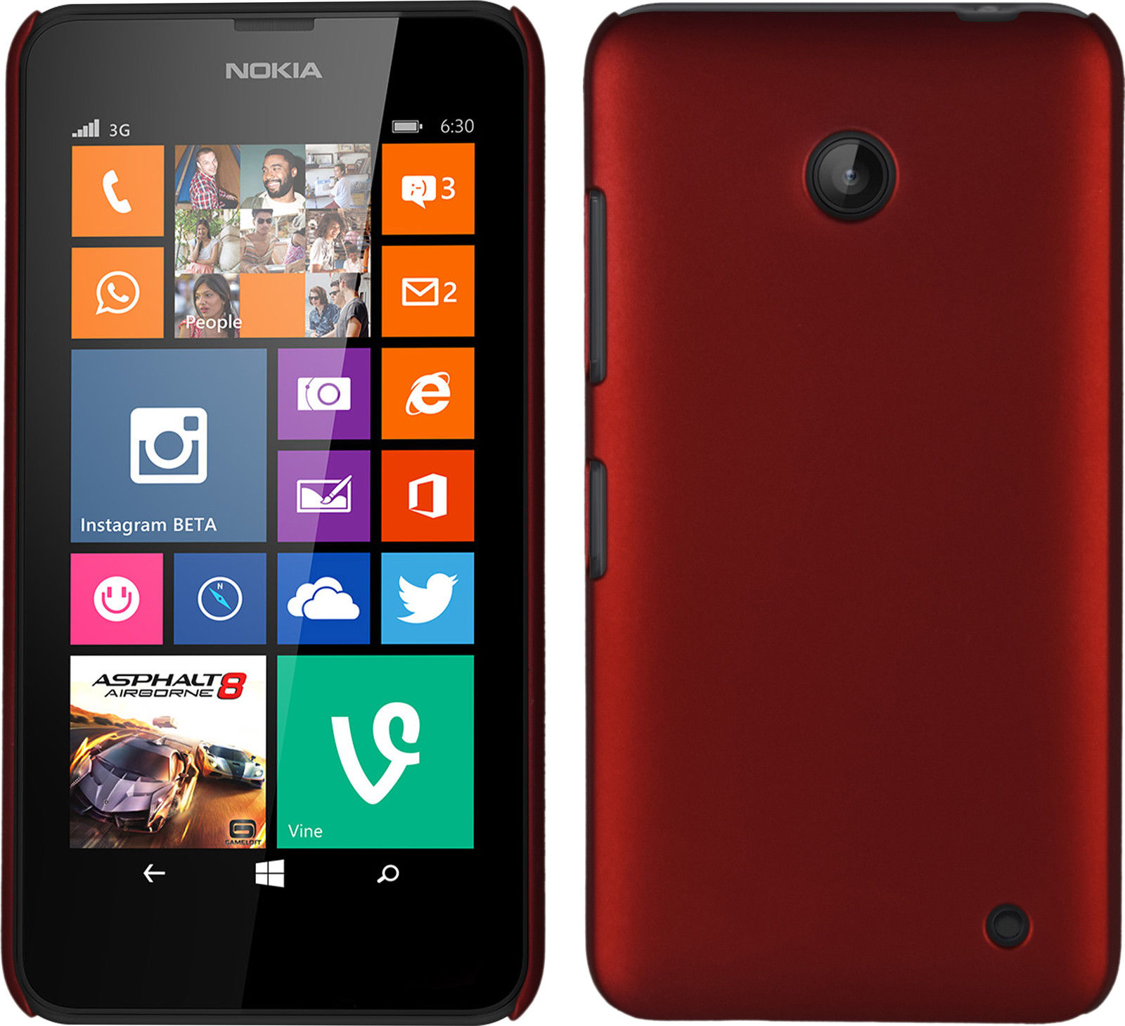 Plastové pouzdro pro Nokia Lumia 630 Barva: Červená