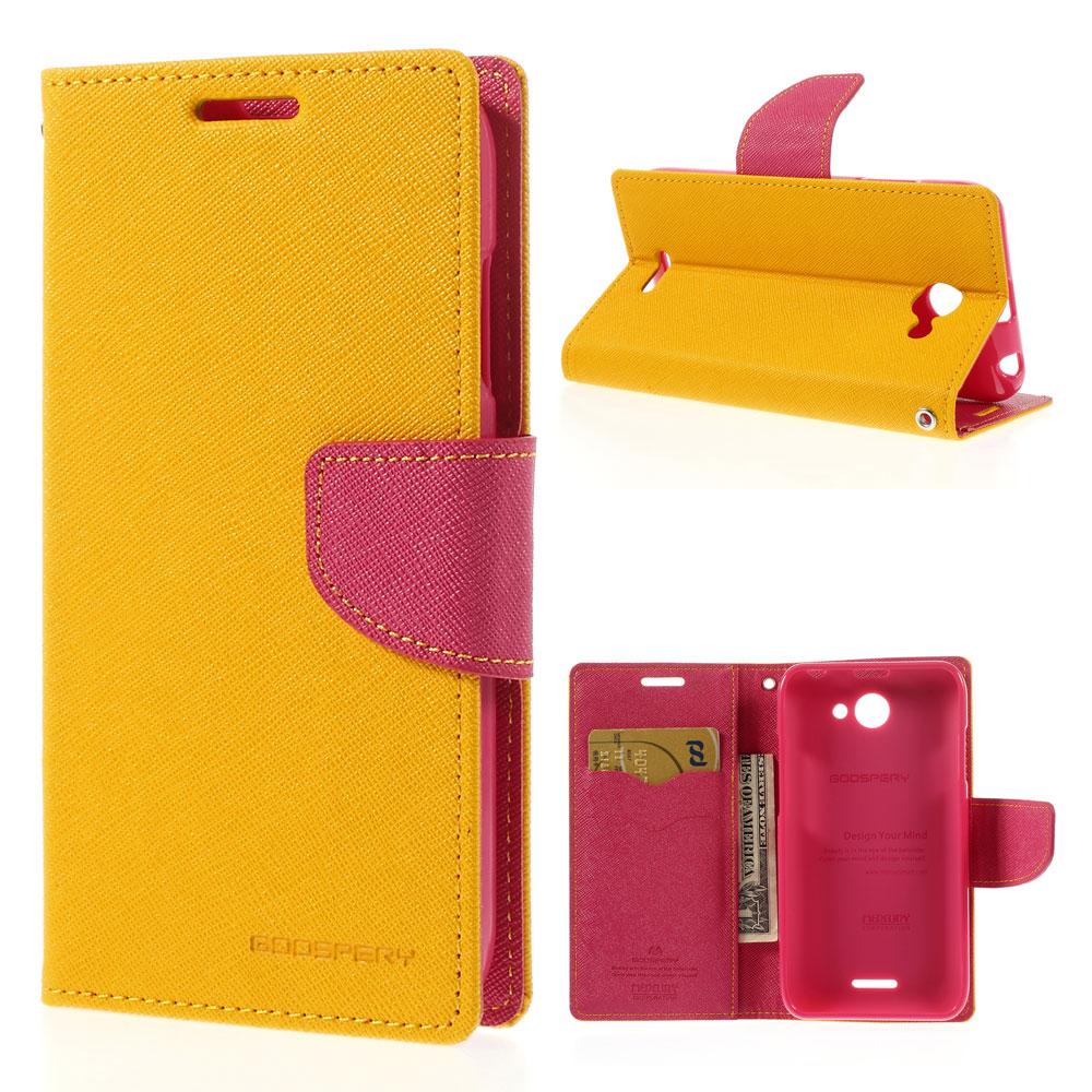 Pouzdro se stojánkem pro HTC Desire 516 Barva: Žlutá