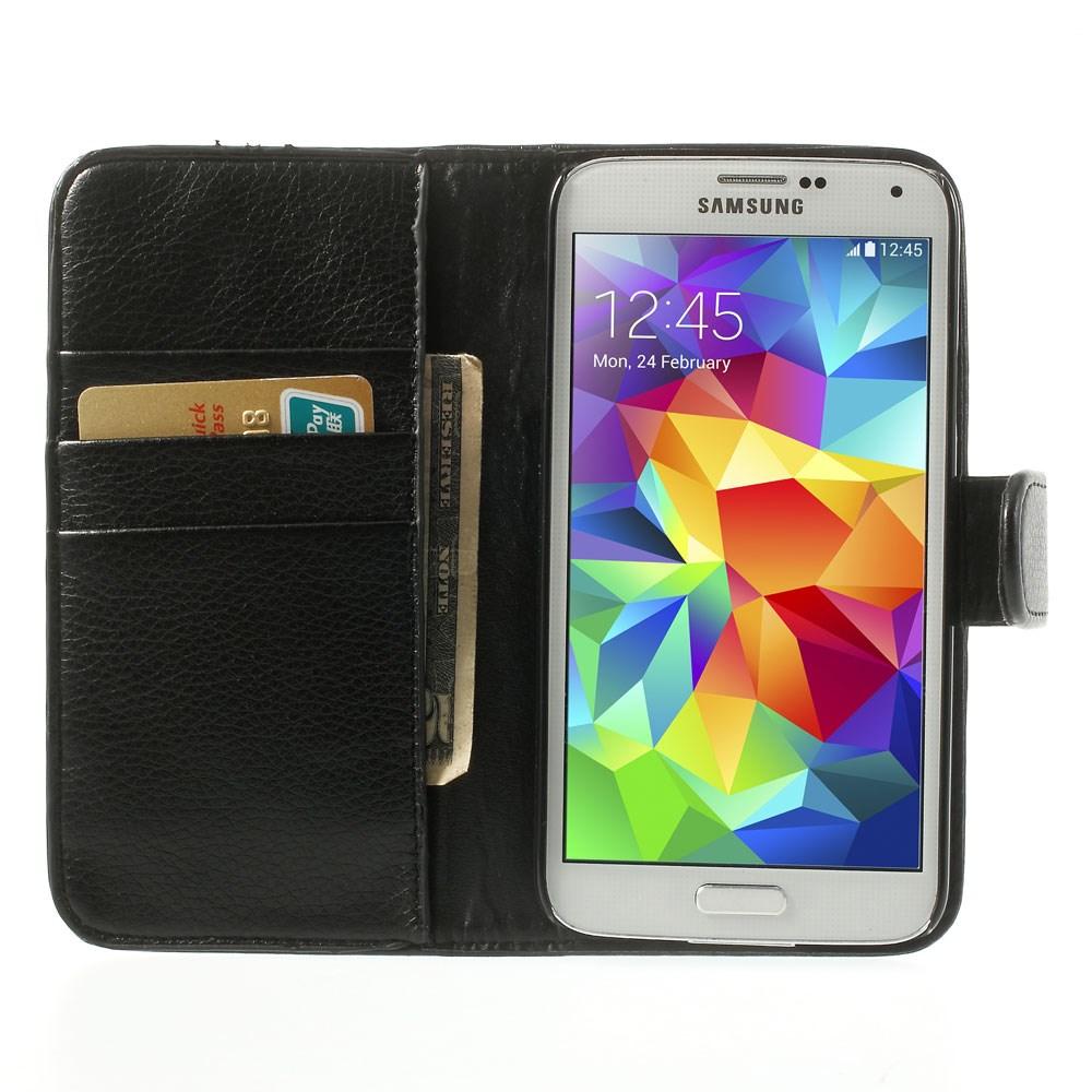 Luxusní pouzdro na opasek pro Samsung Galaxy S5 Barva: Černá