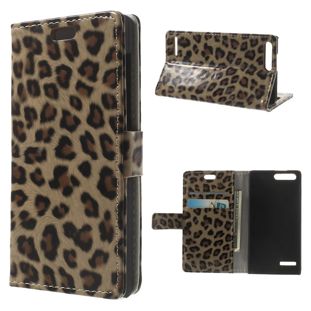 Pouzdro s leopardím vzorem pro Huawei Ascend G6 4G