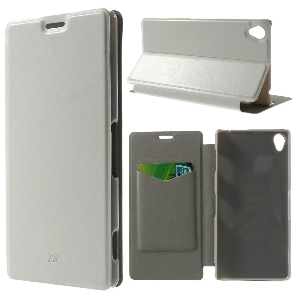 Pouzdro se stojánkem pro Sony Xperia Z3 Barva: Bílá