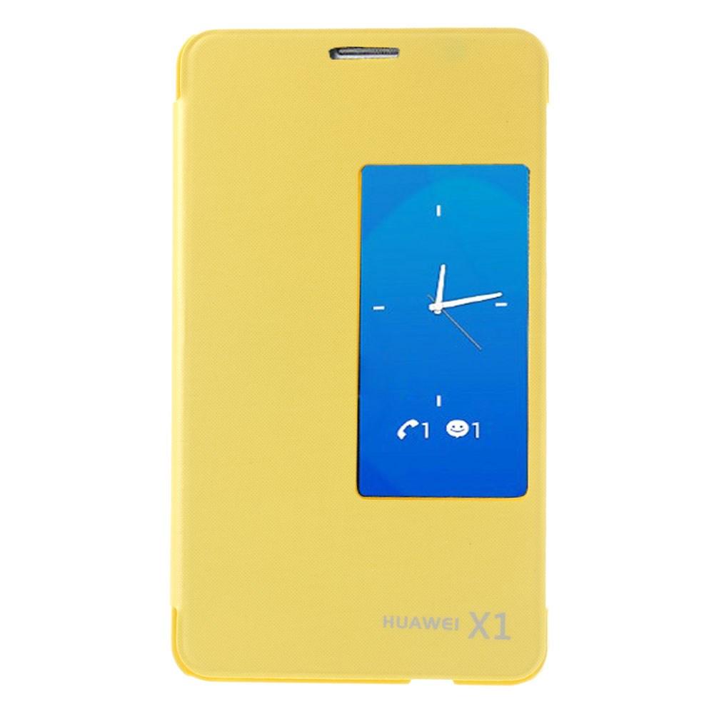 Pouzdro s okénkem pro Huawei Mediapad X1 Barva: Žlutá