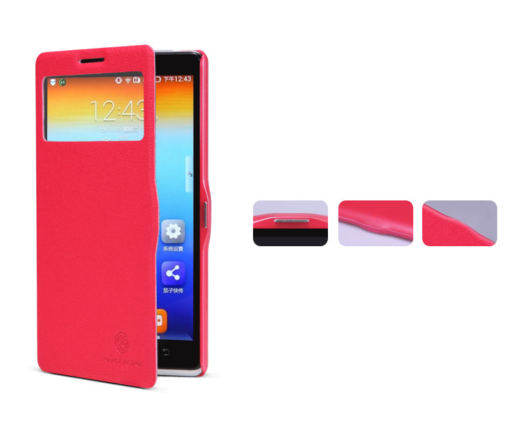 Pouzdro Nillkin Fresh pro Lenovo K910 Vibe Z Barva: Červená
