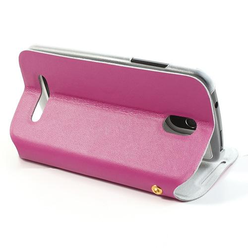 Kožené pouzdro Doormoon pro HTC Desire 500 Barva: Růžová