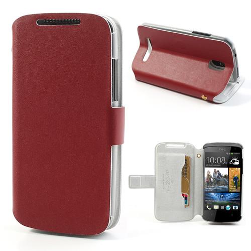 Kožené pouzdro Doormoon pro HTC Desire 500 Barva: Červená