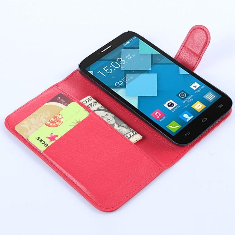 Pouzdro se stojánkem pro Alcatel OT-5042D POP 2 (4.5) Barva: Červená