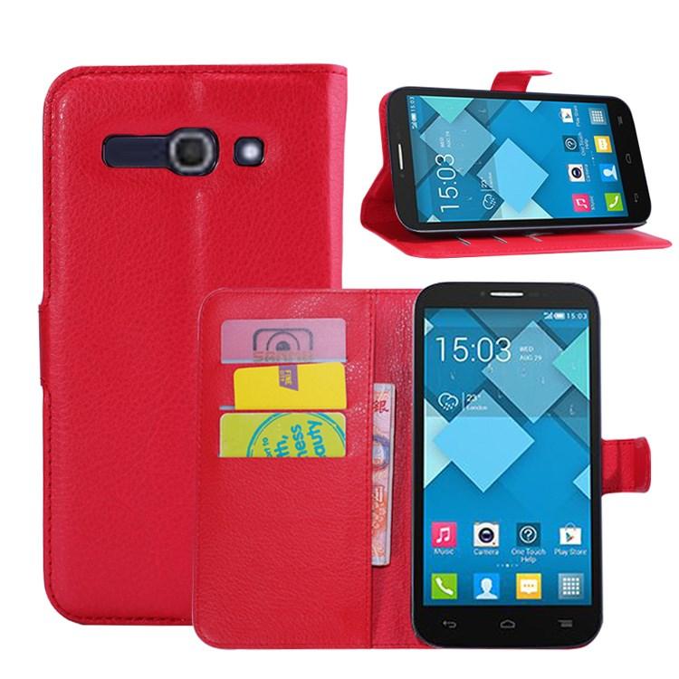 Pouzdro se stojánkem pro Alcatel OT- 7047D POP C9 Barva: Červená