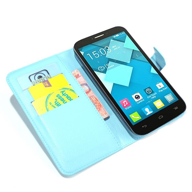 Pouzdro se stojánkem pro Alcatel OT- 7047D POP C9 Barva: Modrá (světlá)