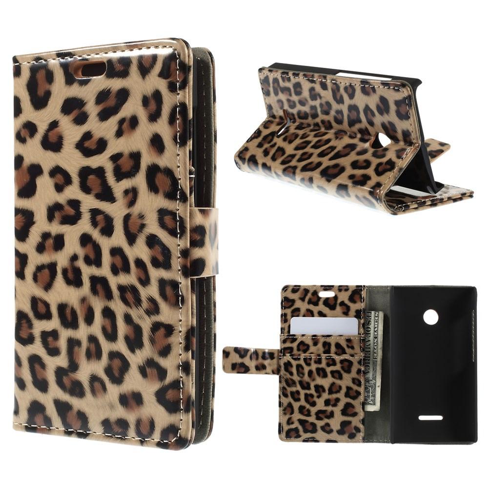 Pouzdro s leopardím vzorem pro Lumia 435
