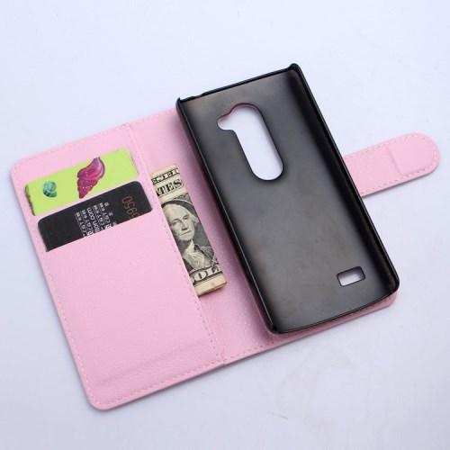 Pouzdro se stojánkem pro LG Leon 4G LTE (H340N) Barva: Růžová (světlá)