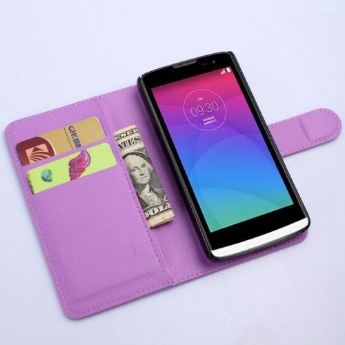 Pouzdro se stojánkem pro LG Leon 4G LTE (H340N) Barva: Fialová
