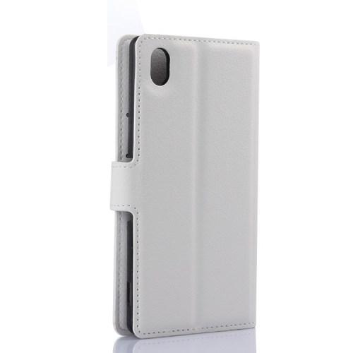 Pouzdro se stojánkem pro Sony Xperia M4 Aqua Barva: Bílá