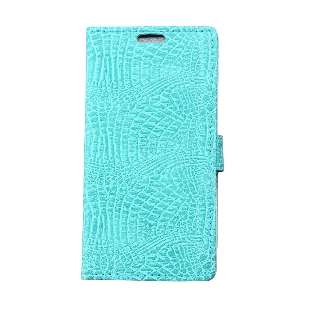 Pouzdro se vzorem krokodýlí kůže pro LG Leon 4G LTE (H340N) Barva: Modrá