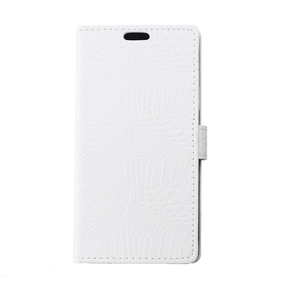 Pouzdro se vzorem krokodýlí kůže pro LG Leon 4G LTE (H340N) Barva: Bílá